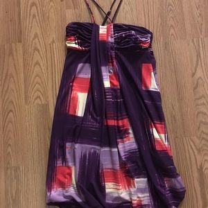 BCBGMAXAZRIA PURPLE MINI DRESS